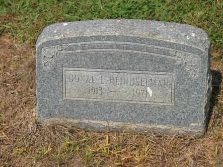 HEINDSELMAN, DONAL L - Cross County, Arkansas | DONAL L HEINDSELMAN - Arkansas Gravestone Photos