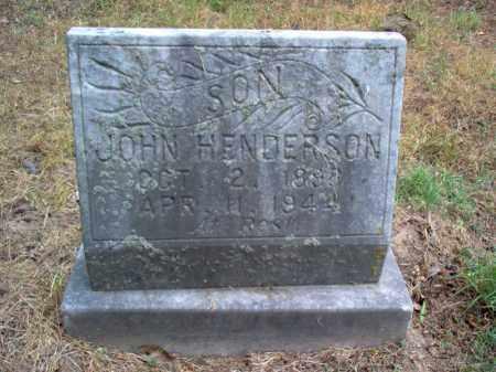 HENDERSON, JOHN - Cross County, Arkansas | JOHN HENDERSON - Arkansas Gravestone Photos