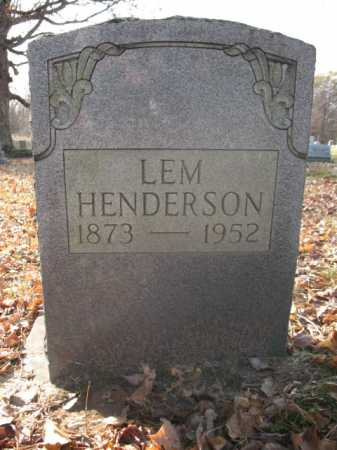 HENDERSON, LEM - Cross County, Arkansas | LEM HENDERSON - Arkansas Gravestone Photos
