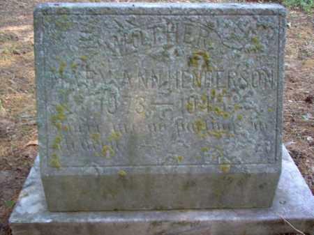 HENDERSON, MARY ANN - Cross County, Arkansas | MARY ANN HENDERSON - Arkansas Gravestone Photos