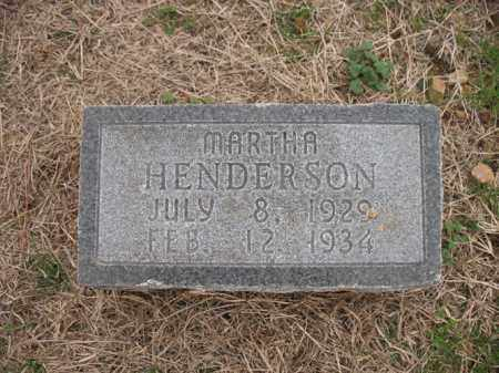 HENDERSON, MARTHA - Cross County, Arkansas | MARTHA HENDERSON - Arkansas Gravestone Photos