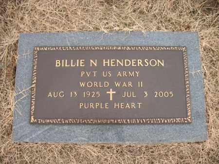 HENDERSON (VETERAN WWII), BILLIE N - Cross County, Arkansas   BILLIE N HENDERSON (VETERAN WWII) - Arkansas Gravestone Photos
