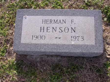 HENSON, HERMAN F - Cross County, Arkansas | HERMAN F HENSON - Arkansas Gravestone Photos