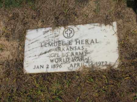HERAL (VETERAN WWI), LEMUEL E - Cross County, Arkansas | LEMUEL E HERAL (VETERAN WWI) - Arkansas Gravestone Photos