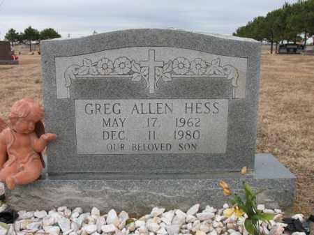 HESS, GREG ALLEN - Cross County, Arkansas | GREG ALLEN HESS - Arkansas Gravestone Photos