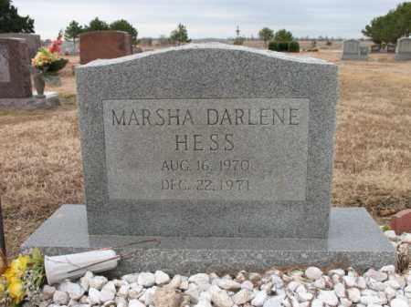 HESS, MARSHA DARLENE - Cross County, Arkansas | MARSHA DARLENE HESS - Arkansas Gravestone Photos