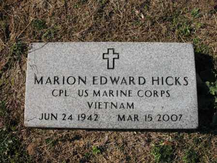 HICKS (VETERAN VIET), MARION EDWARD - Cross County, Arkansas | MARION EDWARD HICKS (VETERAN VIET) - Arkansas Gravestone Photos