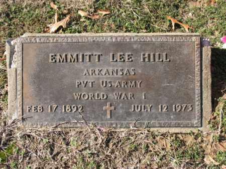HILL (VETERAN WWI), EMMITT LEE - Cross County, Arkansas | EMMITT LEE HILL (VETERAN WWI) - Arkansas Gravestone Photos