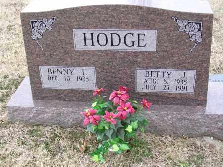 HODGE, BETTY J - Cross County, Arkansas | BETTY J HODGE - Arkansas Gravestone Photos