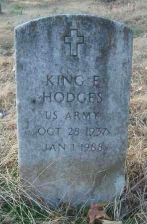 HODGES (VETERAN), KING E - Cross County, Arkansas   KING E HODGES (VETERAN) - Arkansas Gravestone Photos