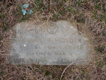 HOLDER (VETERAN WWII), ROMIE R - Cross County, Arkansas | ROMIE R HOLDER (VETERAN WWII) - Arkansas Gravestone Photos