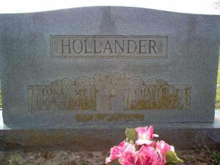 HOLLANDER, CHARLIE F - Cross County, Arkansas | CHARLIE F HOLLANDER - Arkansas Gravestone Photos