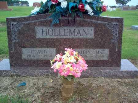 HOLLEMAN, CLAUD - Cross County, Arkansas   CLAUD HOLLEMAN - Arkansas Gravestone Photos