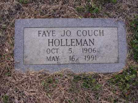 COUCH HOLLEMAN, FAYE JO - Cross County, Arkansas | FAYE JO COUCH HOLLEMAN - Arkansas Gravestone Photos