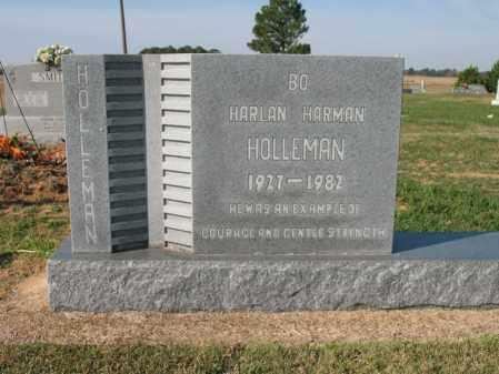 "HOLLEMAN, HARLAN HARMAN ""BO"" - Cross County, Arkansas | HARLAN HARMAN ""BO"" HOLLEMAN - Arkansas Gravestone Photos"