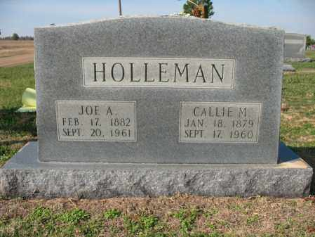 HOLLEMAN, JOE A - Cross County, Arkansas | JOE A HOLLEMAN - Arkansas Gravestone Photos