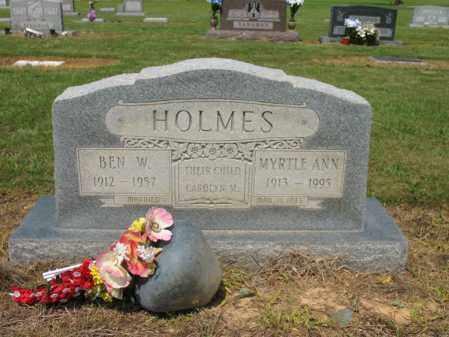 HOLMES, BEN W - Cross County, Arkansas | BEN W HOLMES - Arkansas Gravestone Photos