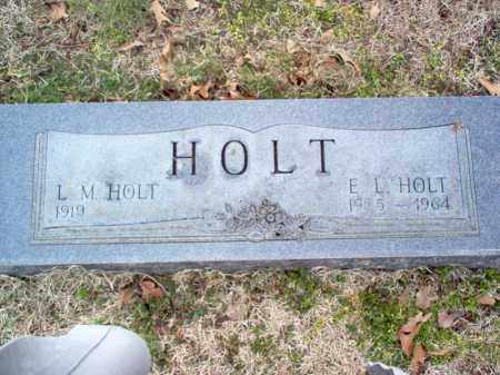 HOLT, E L - Cross County, Arkansas   E L HOLT - Arkansas Gravestone Photos