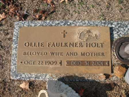 FAULKNER HOLT, OLLIE - Cross County, Arkansas | OLLIE FAULKNER HOLT - Arkansas Gravestone Photos