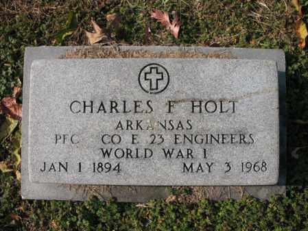 HOLT (VETERAN WWI), CHARLES F - Cross County, Arkansas | CHARLES F HOLT (VETERAN WWI) - Arkansas Gravestone Photos