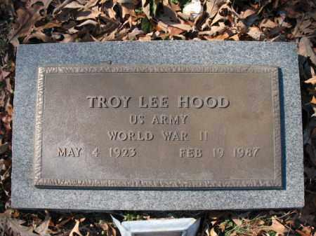 HOOD (VETERAN WWII), TROY LEE - Cross County, Arkansas | TROY LEE HOOD (VETERAN WWII) - Arkansas Gravestone Photos