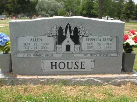 HOUSE, REBECCA IRENE - Cross County, Arkansas | REBECCA IRENE HOUSE - Arkansas Gravestone Photos