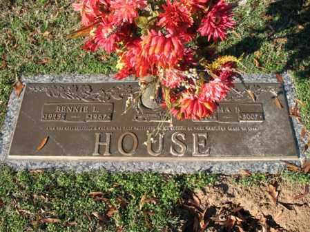 HOUSE, BENNIE L - Cross County, Arkansas   BENNIE L HOUSE - Arkansas Gravestone Photos