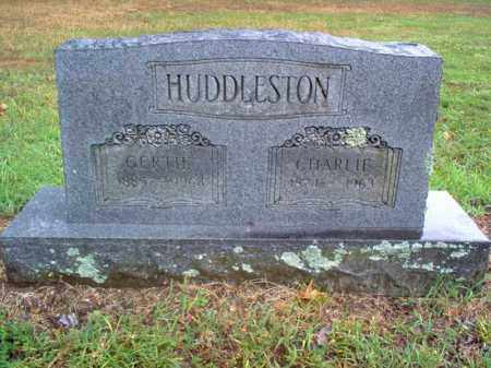 HUDDLESTON, CHARLIE - Cross County, Arkansas | CHARLIE HUDDLESTON - Arkansas Gravestone Photos