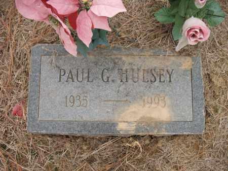 HULSEY, PAUL G - Cross County, Arkansas | PAUL G HULSEY - Arkansas Gravestone Photos