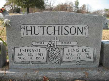 HUTCHISON, ELVIS DEE - Cross County, Arkansas | ELVIS DEE HUTCHISON - Arkansas Gravestone Photos