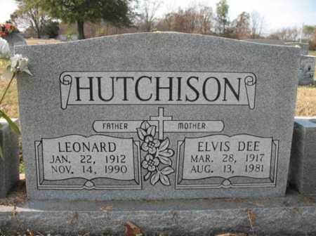 HUTCHISON, LEONARD - Cross County, Arkansas | LEONARD HUTCHISON - Arkansas Gravestone Photos