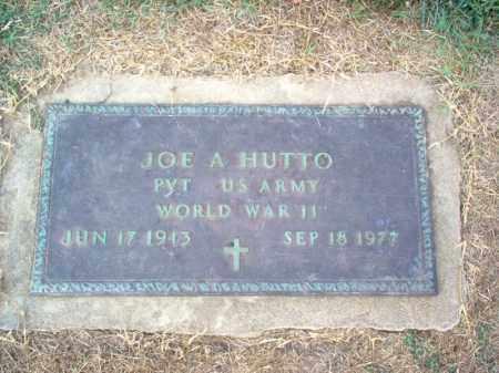 HUTTO (VETERAN WWII), JOE A - Cross County, Arkansas   JOE A HUTTO (VETERAN WWII) - Arkansas Gravestone Photos