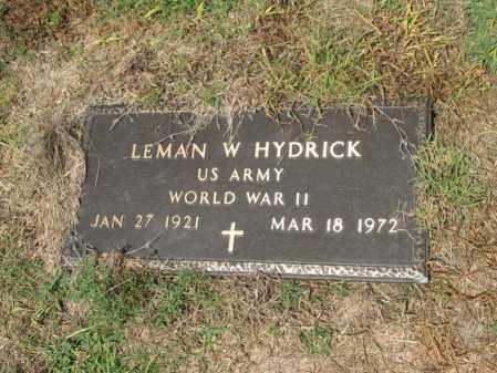 HYDRICK (VETERAN WWII), LEMAN W - Cross County, Arkansas | LEMAN W HYDRICK (VETERAN WWII) - Arkansas Gravestone Photos