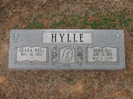 HYLLE, JOHN OLE - Cross County, Arkansas | JOHN OLE HYLLE - Arkansas Gravestone Photos