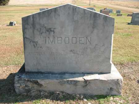 IMBODEN, MATTIE - Cross County, Arkansas | MATTIE IMBODEN - Arkansas Gravestone Photos