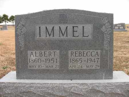 IMMEL, REBECCA - Cross County, Arkansas | REBECCA IMMEL - Arkansas Gravestone Photos