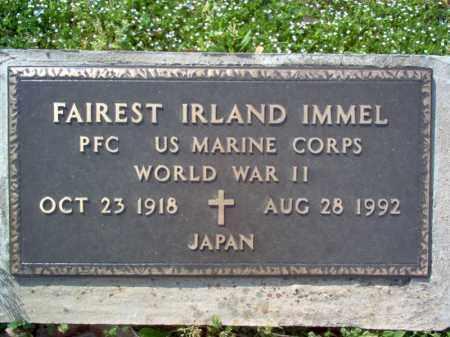 IMMEL (VETERAN WWII), FAIREST IRLAND - Cross County, Arkansas   FAIREST IRLAND IMMEL (VETERAN WWII) - Arkansas Gravestone Photos