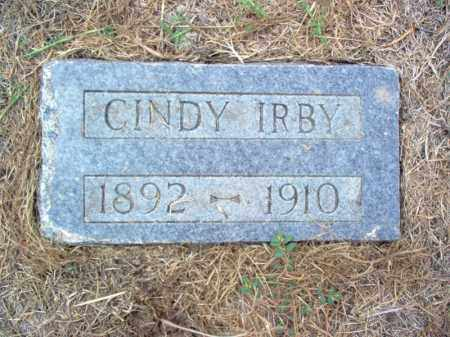 IRBY, CINDY - Cross County, Arkansas | CINDY IRBY - Arkansas Gravestone Photos