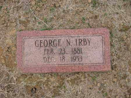 IRBY, GEORGE N - Cross County, Arkansas | GEORGE N IRBY - Arkansas Gravestone Photos