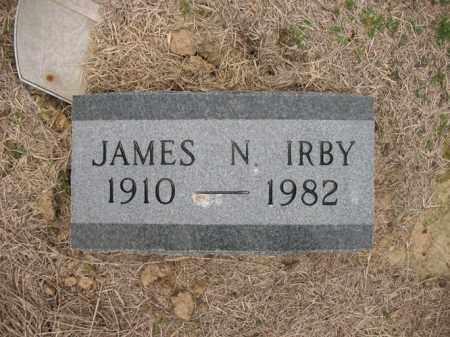 IRBY, JAMES N - Cross County, Arkansas | JAMES N IRBY - Arkansas Gravestone Photos