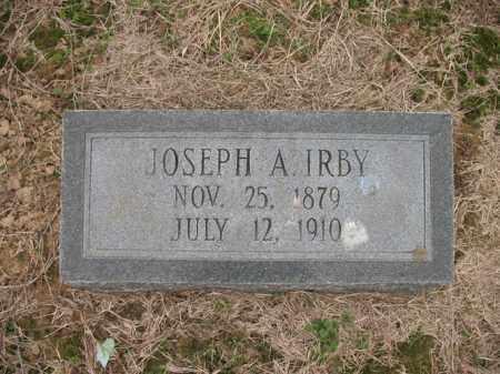 IRBY, JOSEPH A - Cross County, Arkansas | JOSEPH A IRBY - Arkansas Gravestone Photos