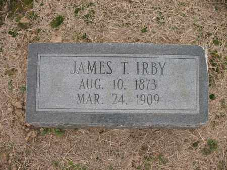 IRBY, JAMES T - Cross County, Arkansas | JAMES T IRBY - Arkansas Gravestone Photos