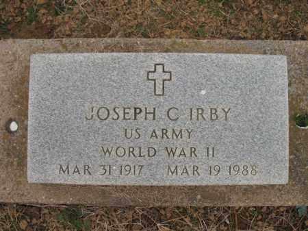 IRBY (VETERAN WWII), JOSEPH C - Cross County, Arkansas   JOSEPH C IRBY (VETERAN WWII) - Arkansas Gravestone Photos