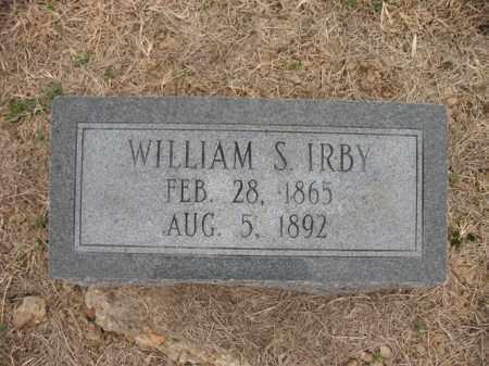 IRBY, WILLIAM S - Cross County, Arkansas | WILLIAM S IRBY - Arkansas Gravestone Photos