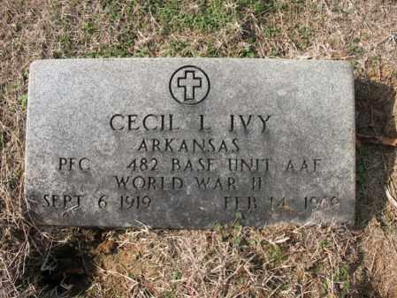IVY (VETERAN WWII), CECIL L - Cross County, Arkansas | CECIL L IVY (VETERAN WWII) - Arkansas Gravestone Photos