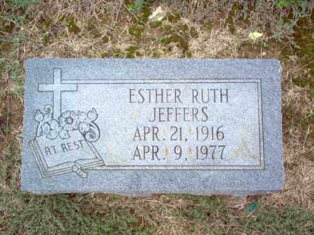 JEFFERS, ESTHER RUTH - Cross County, Arkansas | ESTHER RUTH JEFFERS - Arkansas Gravestone Photos