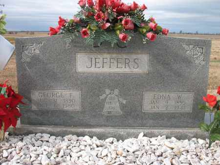 JEFFERS, GEORGE F - Cross County, Arkansas | GEORGE F JEFFERS - Arkansas Gravestone Photos