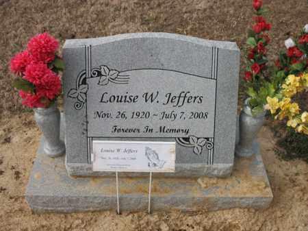 JEFFERS, LOUISE W - Cross County, Arkansas   LOUISE W JEFFERS - Arkansas Gravestone Photos