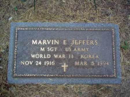 JEFFERS (VETERAN 2 WARS), MARVIN EARL - Cross County, Arkansas | MARVIN EARL JEFFERS (VETERAN 2 WARS) - Arkansas Gravestone Photos