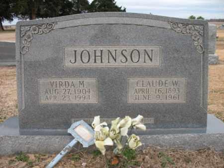 JOHNSON, CLAUDE W - Cross County, Arkansas | CLAUDE W JOHNSON - Arkansas Gravestone Photos